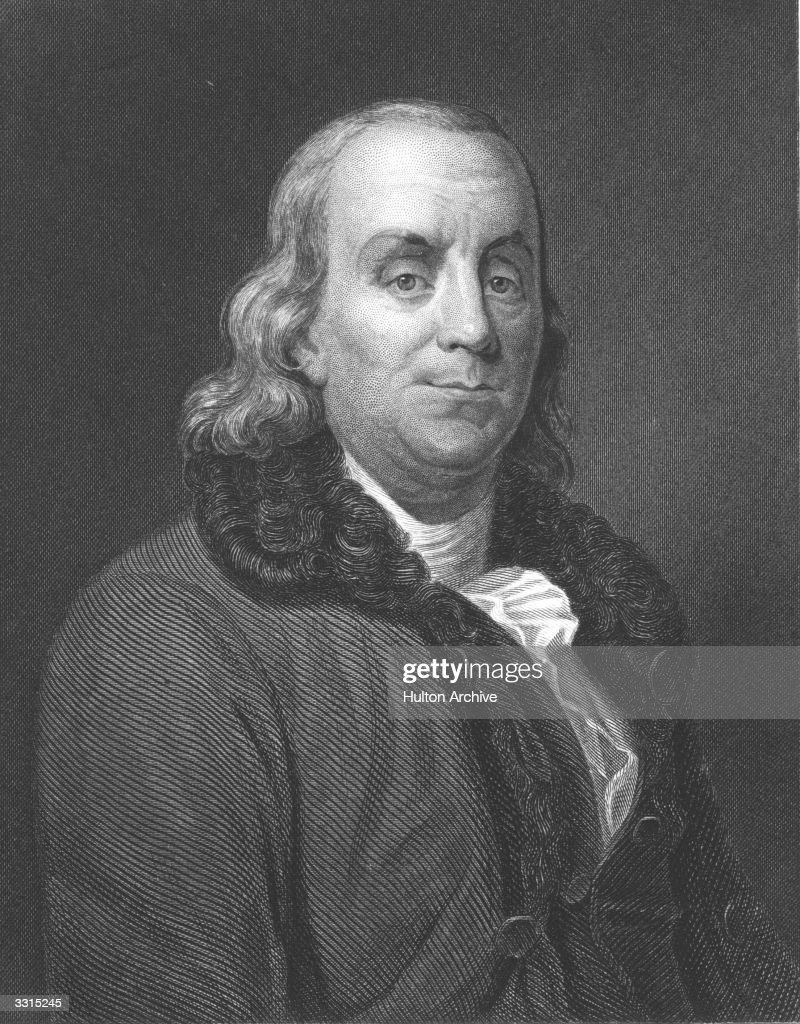 American statesman, writer and scientist <a gi-track='captionPersonalityLinkClicked' href=/galleries/search?phrase=Benjamin+Franklin&family=editorial&specificpeople=77750 ng-click='$event.stopPropagation()'>Benjamin Franklin</a> (1706 - 1790).