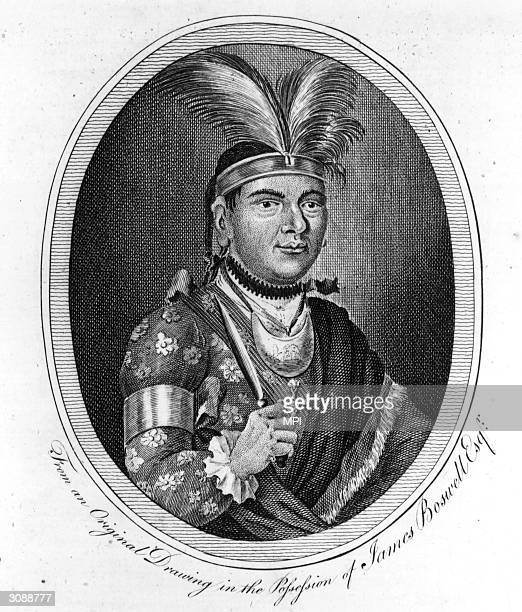 Joseph Brant or Thayendanega a Mohawk chief who was converted to Christianity and fought on the side of the British in the French and Indian War the...
