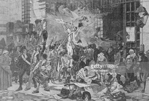 The conquerors of the Bastille during the French Revolution Original Publication From 'Cassell's' Illustrated History of England After picture by...