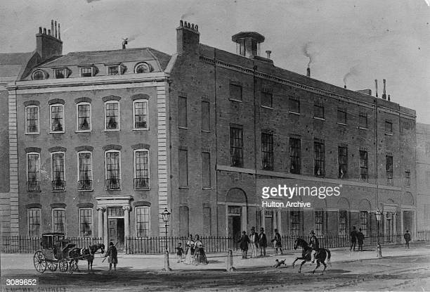 The concert rooms in Hanover Square where Joseph Haydn gave his first series of concerts in 1791 Original Artwork Painting by Thomas Hosmer Shepherd