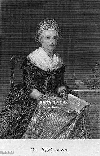 Martha Washington nee Martha Dandridge Custis the wife of George Washington the 1st President of the United States of America