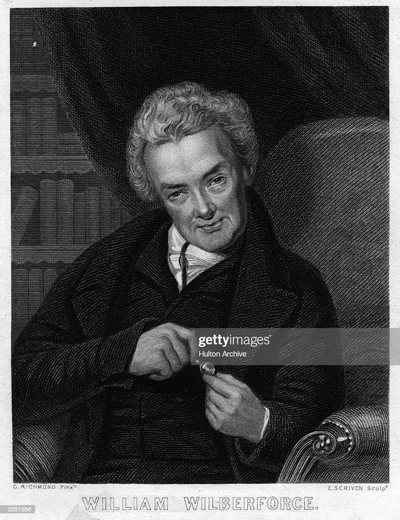 William Wilberforce (1759 - 1833) the English politician, reformer and philanthropist, who succeeded in abolishing the Slave Trade Act in 1807.