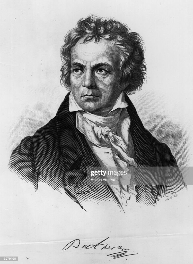 Ludwig Van Beethoven (1770 - 1827) the German composer.