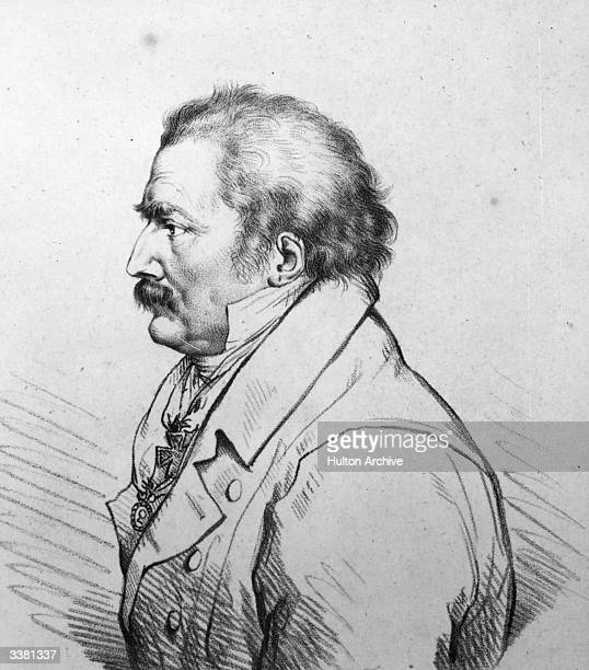 Prussian field marshal Gebhard Leberecht von Blucher Original Artwork Engraved by T Vendramini after the drawing by P E Stroehling historical painter...