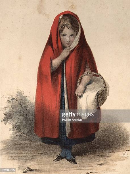 Little Red Riding Hood sets out to visit her grandmother from the fairy tale by the brothers Grimm