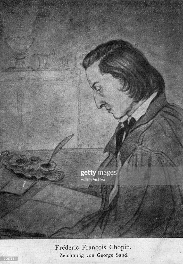 <a gi-track='captionPersonalityLinkClicked' href=/galleries/search?phrase=Frederic+Chopin&family=editorial&specificpeople=78813 ng-click='$event.stopPropagation()'>Frederic Chopin</a> (1810 - 1849) as drawn by George Sand (Amandine Dupin, Baronne Dudevant).