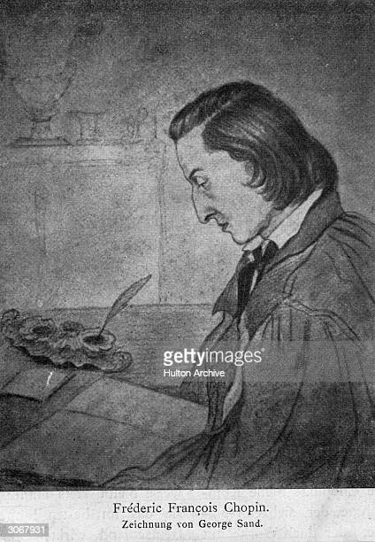 Frederic Chopin as drawn by George Sand