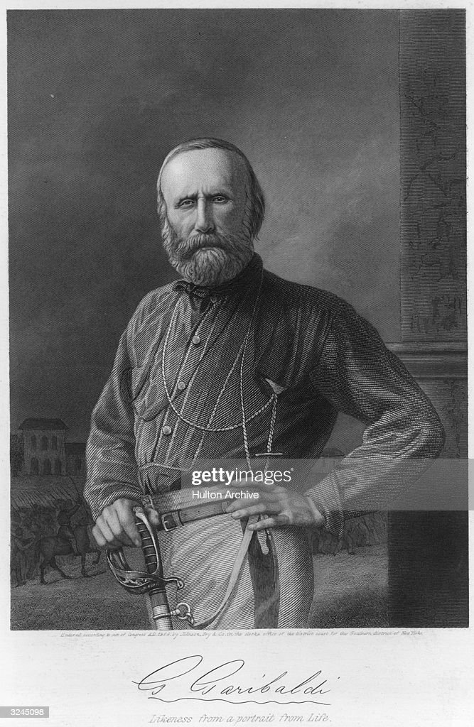 Giuseppe Garibaldi, (1807-1882), Italian military leader for the unification of Italy, joined Mazzini in 1834 in the army of the Roman Republic, defeated 1849, 1859-60 led invasion of Sicily taking it and Naples, supported Victor Emmanuel, king of Sardinia and the Two Sicilies who was proclaimed king of Italy March 7, 1861, in 1874 he became a member of Italian parliament.