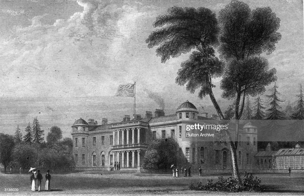Goodwood House in Sussex home of the Dukes of Richmond since 1697 Original Artwork Drawn by W Daniell and engraved by R Acon