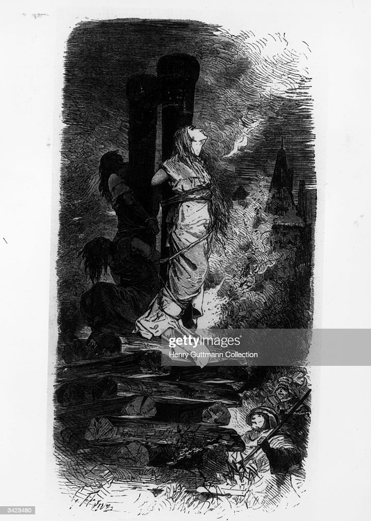 Witches being burned at the stake
