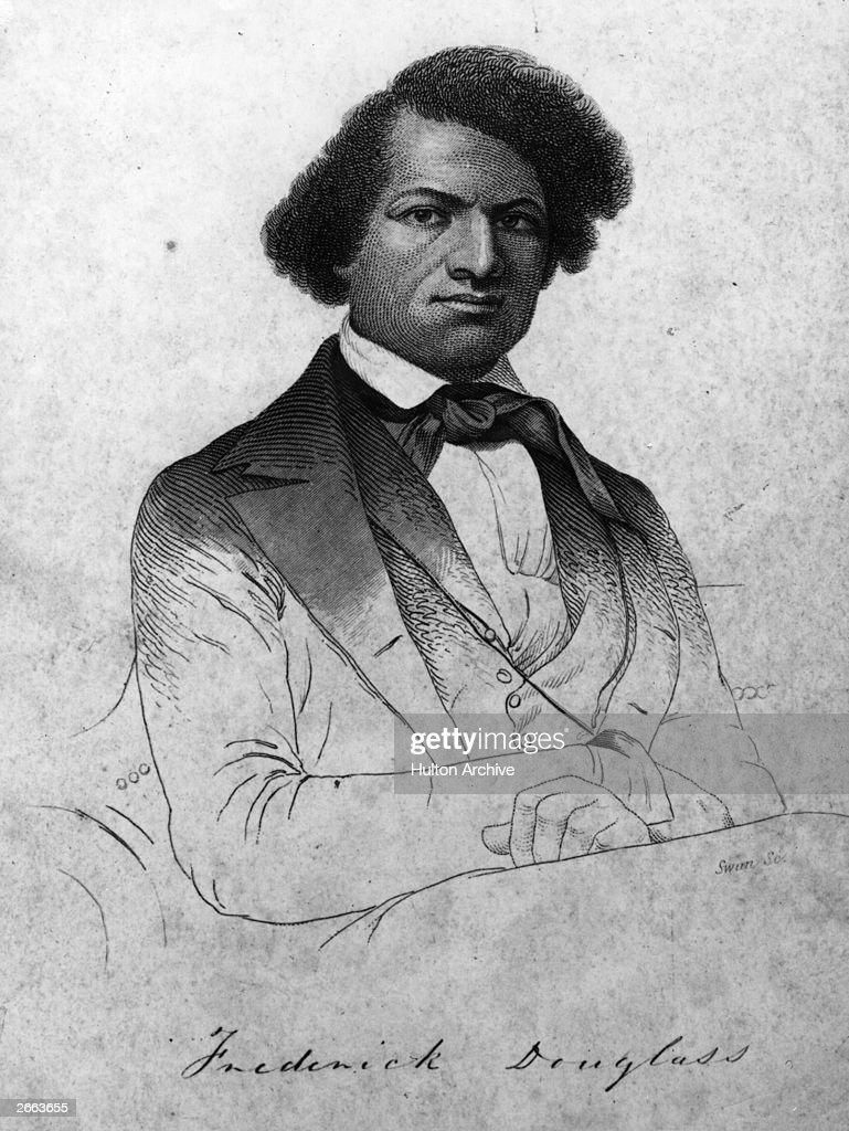 American abolitionist, writer and former slave, <a gi-track='captionPersonalityLinkClicked' href=/galleries/search?phrase=Frederick+Douglass&family=editorial&specificpeople=95956 ng-click='$event.stopPropagation()'>Frederick Douglass</a>, originally Frederick Augustus Washington Bailey (1817 - 1895).