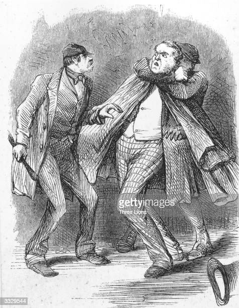 A robber seizes a man from behind while his companion threatens him with a club during a mugging in Victorian times Such an act was known as...