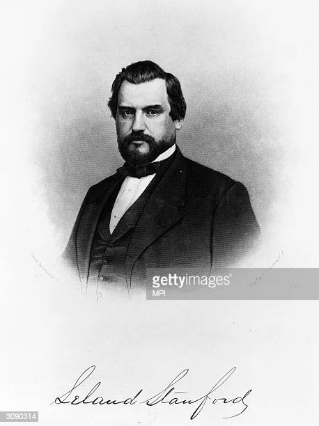 Leland Stanford after running the Central Pacific Railroad he served as Governor of California and founded Stanford University Original Artwork...