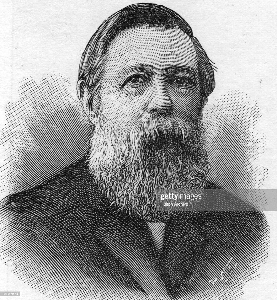 Friedrich Engels (1820 - 1893), German socialist, resident in England from 1842. He collaborated with Marx on the Communist Manifesto (1848). After Marx's death in 1883, Engels continued to edit Marx's writings.