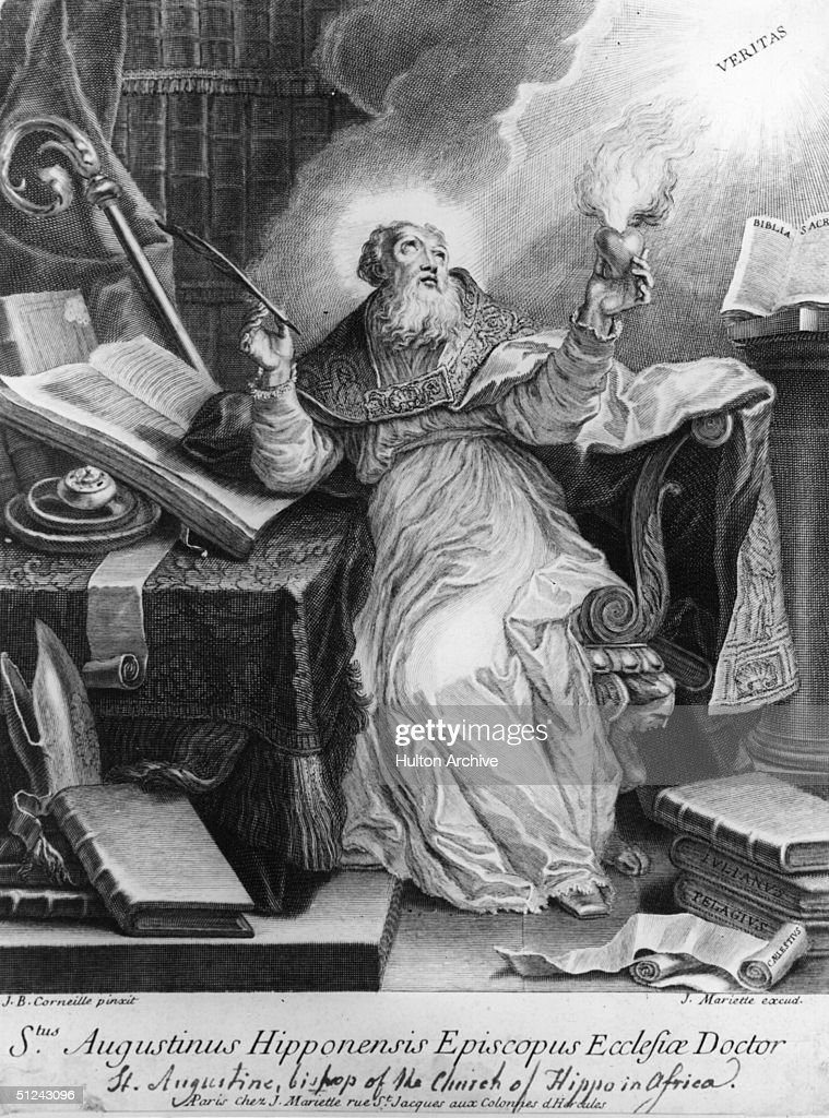 Circa 420 AD Saint Augustine also known as Augustine of Hippo the greatest of the Latin Church fathers He became Bishop of Hippo in 396