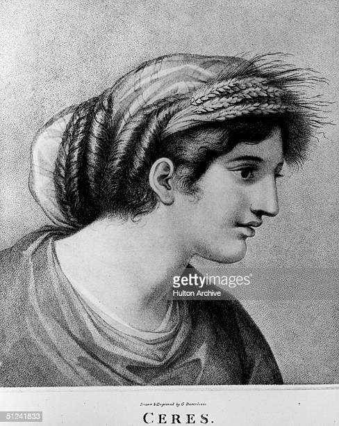 Circa 450 BC Ceres in Roman mythology the goddess of agriculture