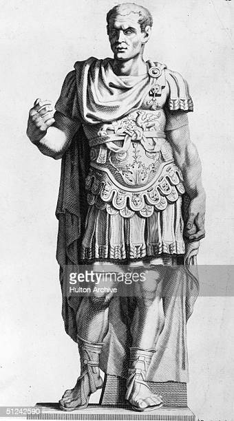Circa 50 BC Julius Caesar Original Artwork Engraving C L Randon