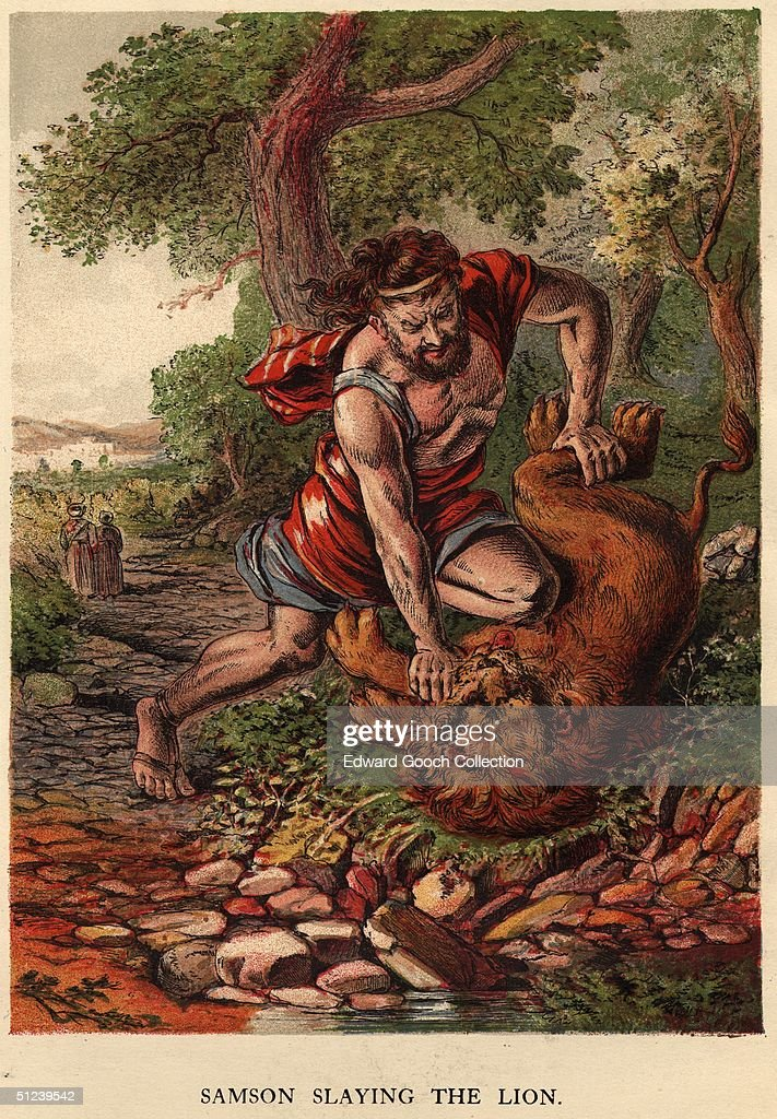 Circa 500 BC, <a gi-track='captionPersonalityLinkClicked' href=/galleries/search?phrase=Samson&family=editorial&specificpeople=79382 ng-click='$event.stopPropagation()'>Samson</a> slaying the lion.