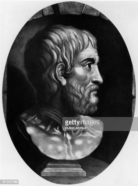 Circa 530 BC A bust of Pythagoras the philosopher sage and mathematician