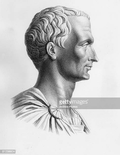 Circa 60 BC Profile of Gaius Julius Caesar Roman general statesman orator writer Formed the 'first triumvirate' with Pompey and Crassus invaded...