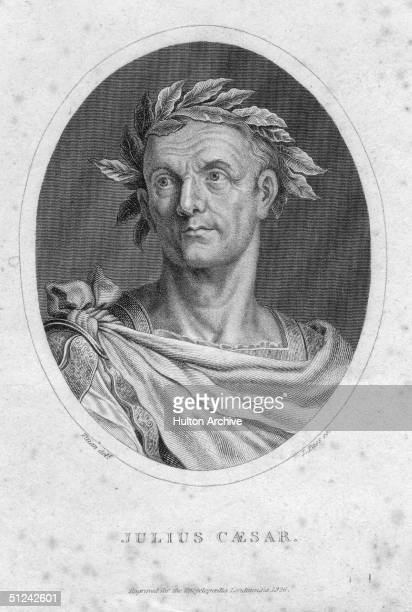 Circa 60 BC Roman dictator Julius Caesar the Roman statesman and general He was elected dictator for life and named 'Father of the Country'