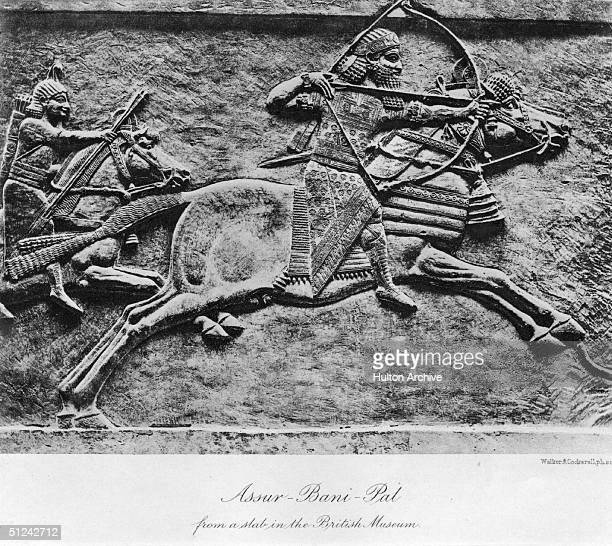 Circa 640 BC Assur Bani Pal or Assurbanipal or Sardanapalus King of Assyria Original Publication From a slab in the British Museum