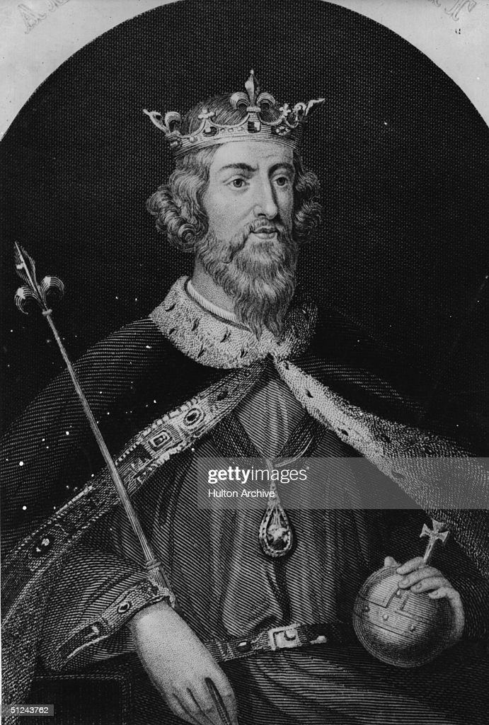 Circa 880 AD, King Alfred the Great (849 - 901) with the symbols of office.