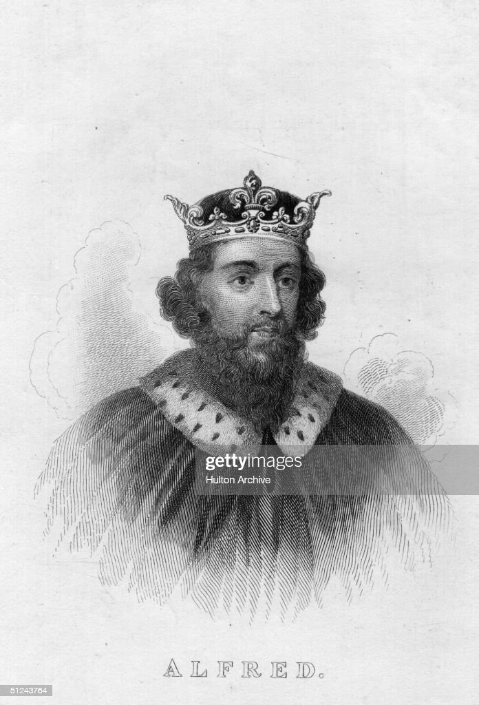 Circa 885 AD, King Alfred the Great (849 - 901).