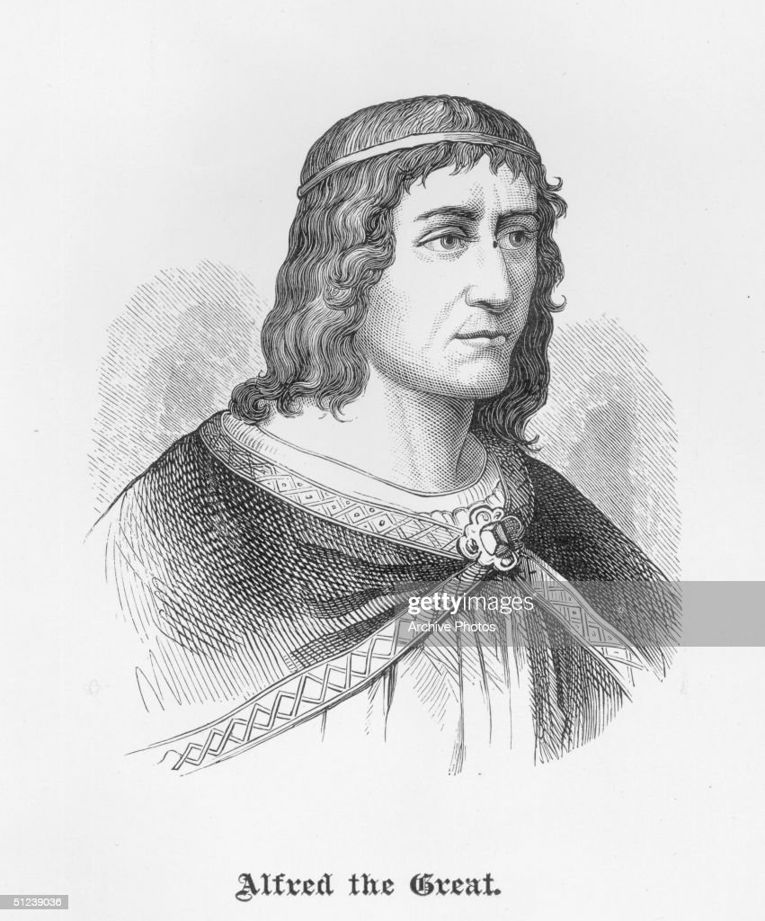Circa 895, Alfred 'the Great' (849-899 AD), King of Wessex [Britain] from 871. Recognized as sovereign of all England not under Danish rule. Repelled Danish invasion, 892-896, using improved, organized navy. Compiled best laws of previous kings; promoted learning.