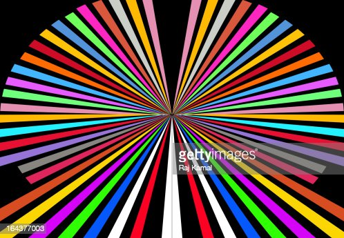 Circle of Coloured Lines.Abstract. : Stock Illustration