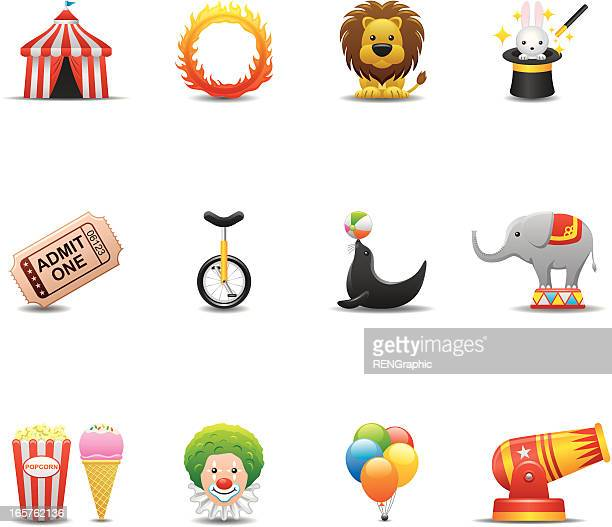Circus Icon Set, Elegant Series