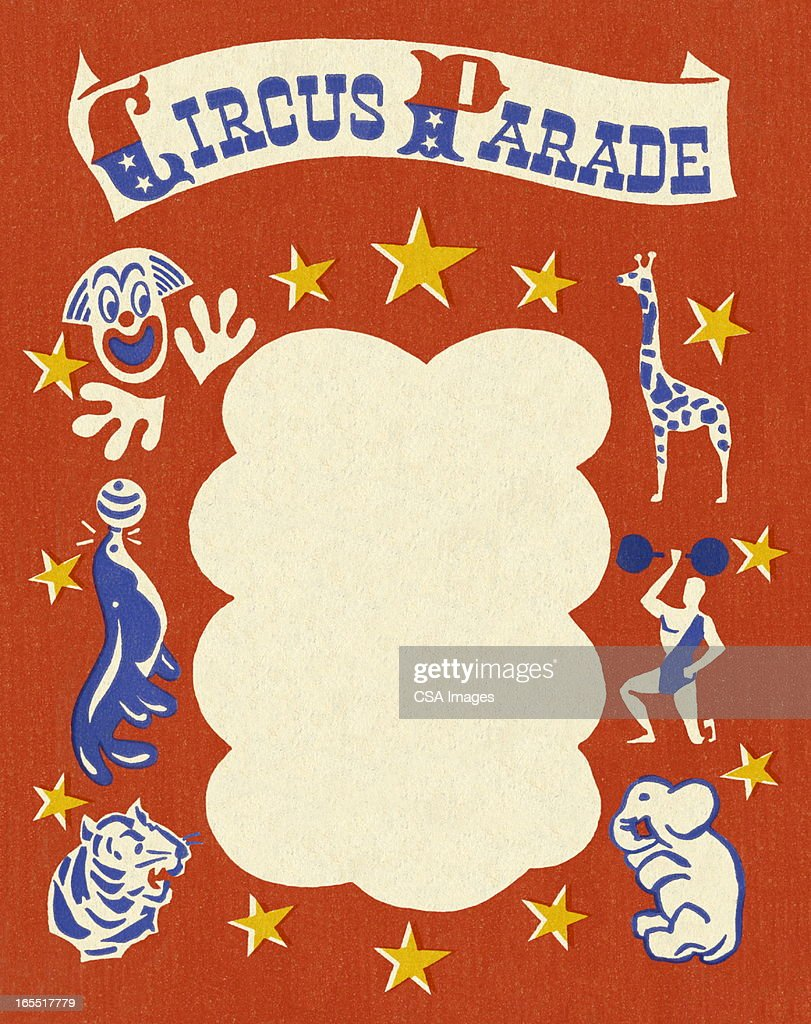 Circus Parade Stationery : Stock Illustration