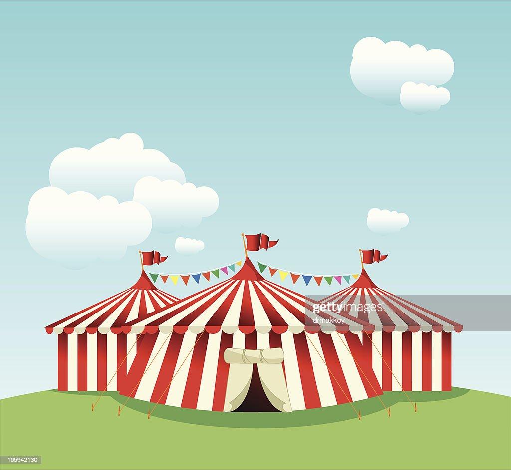 Circus Tent : Vector Art