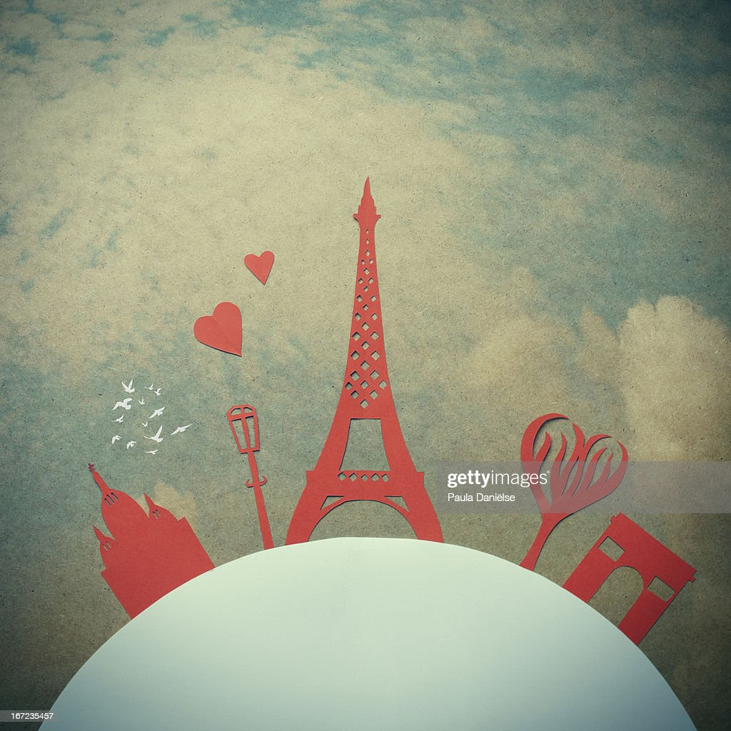 City of Love : Stock Illustration