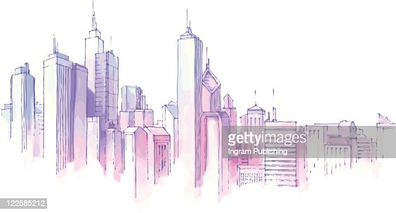 City Skyline. : Vector Art