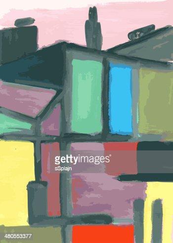 Vista da Cidade : Ilustração de stock