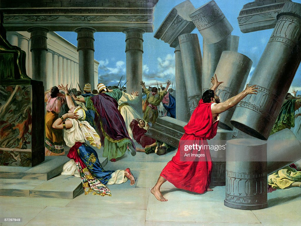 samson and delilah and the destruction of the temple fine art