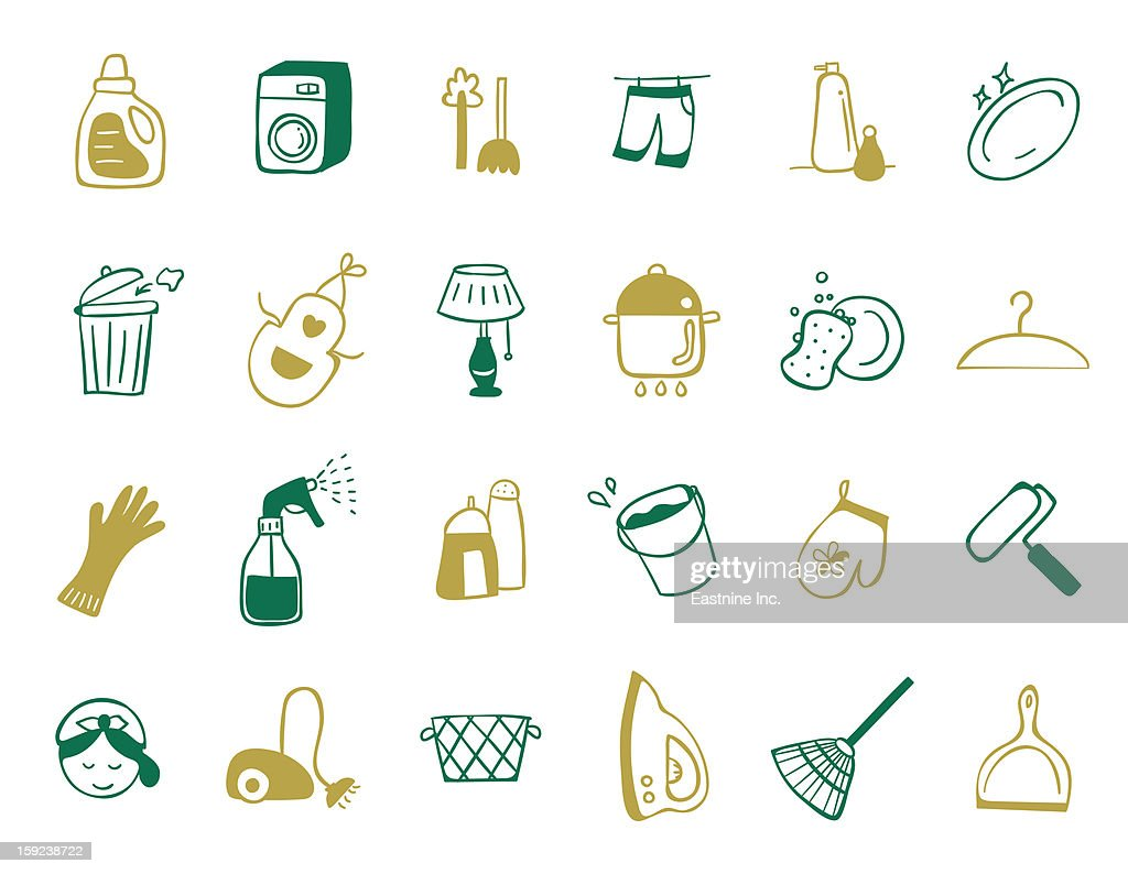 cleaning Icon set : Stock Illustration
