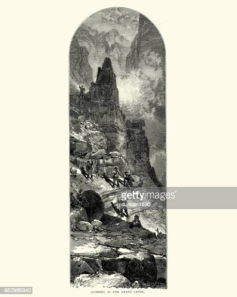 Climbing the Grand Canon, Colorado in the 19th Century