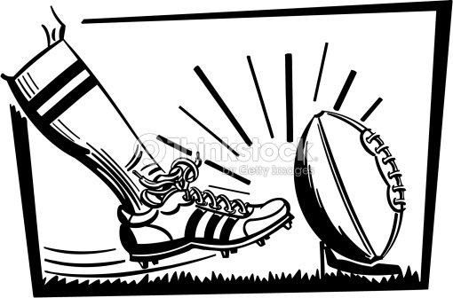 A Closeup Of A Cleated Foot Kicking A Football Off Of A