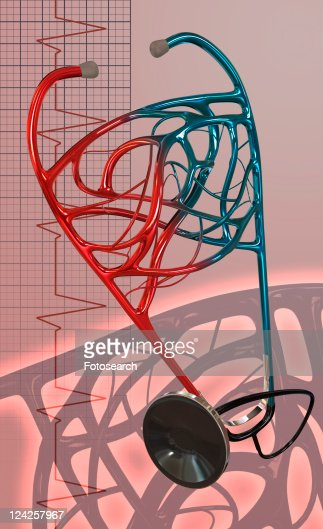 Close-up of a stethoscope : Stock Illustration
