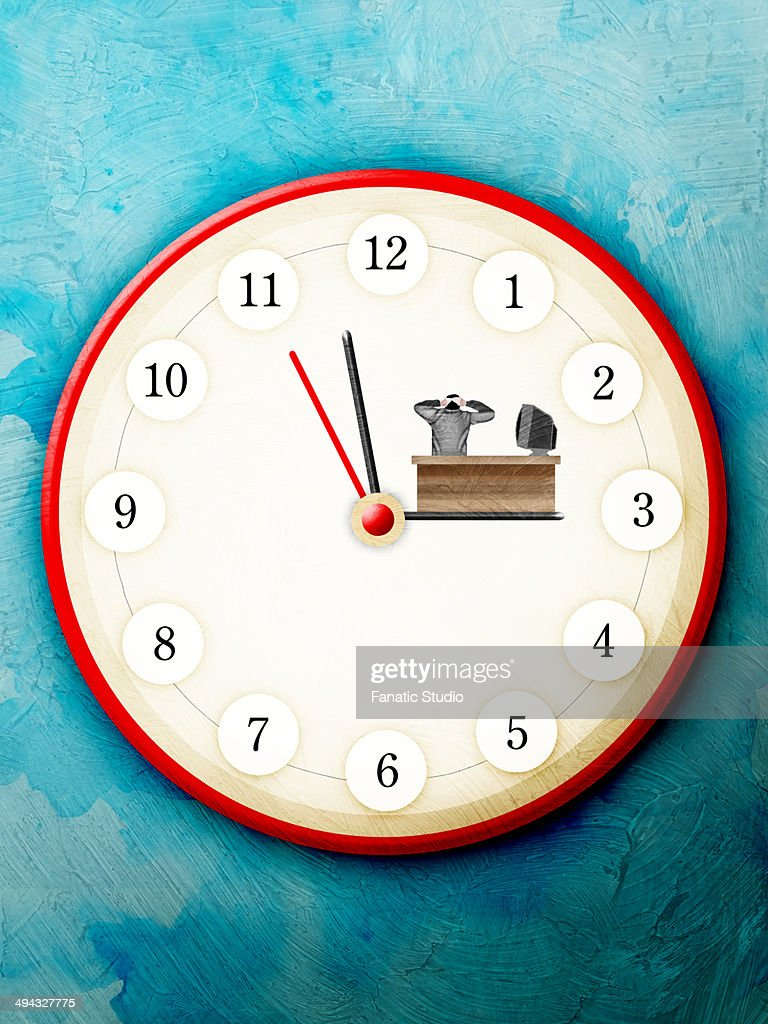 Close-up of a wall clock : Stock Illustration