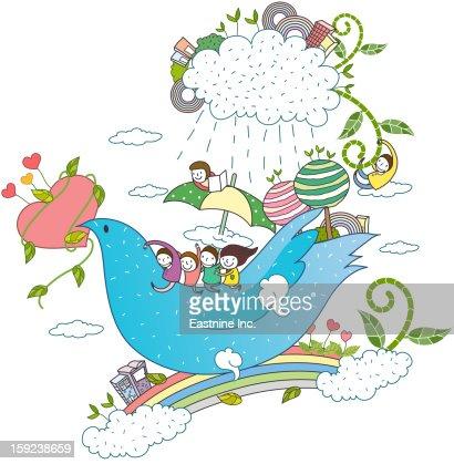 Close-up of bird : Stock Illustration
