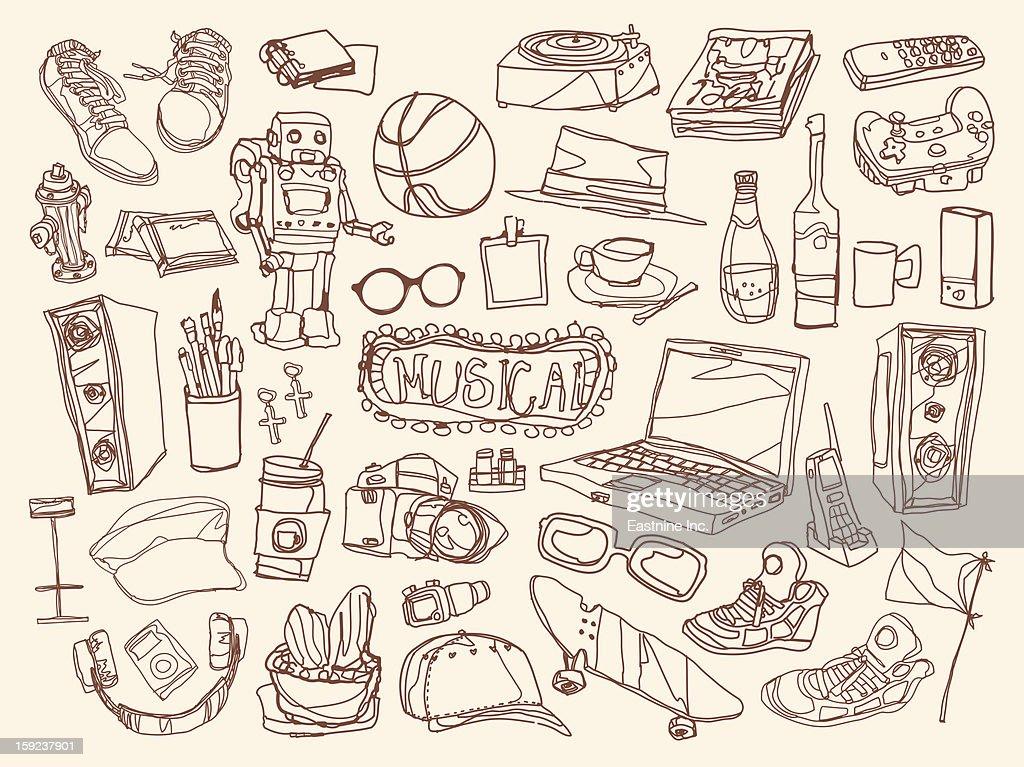 Close-up of electronics : Stock Illustration