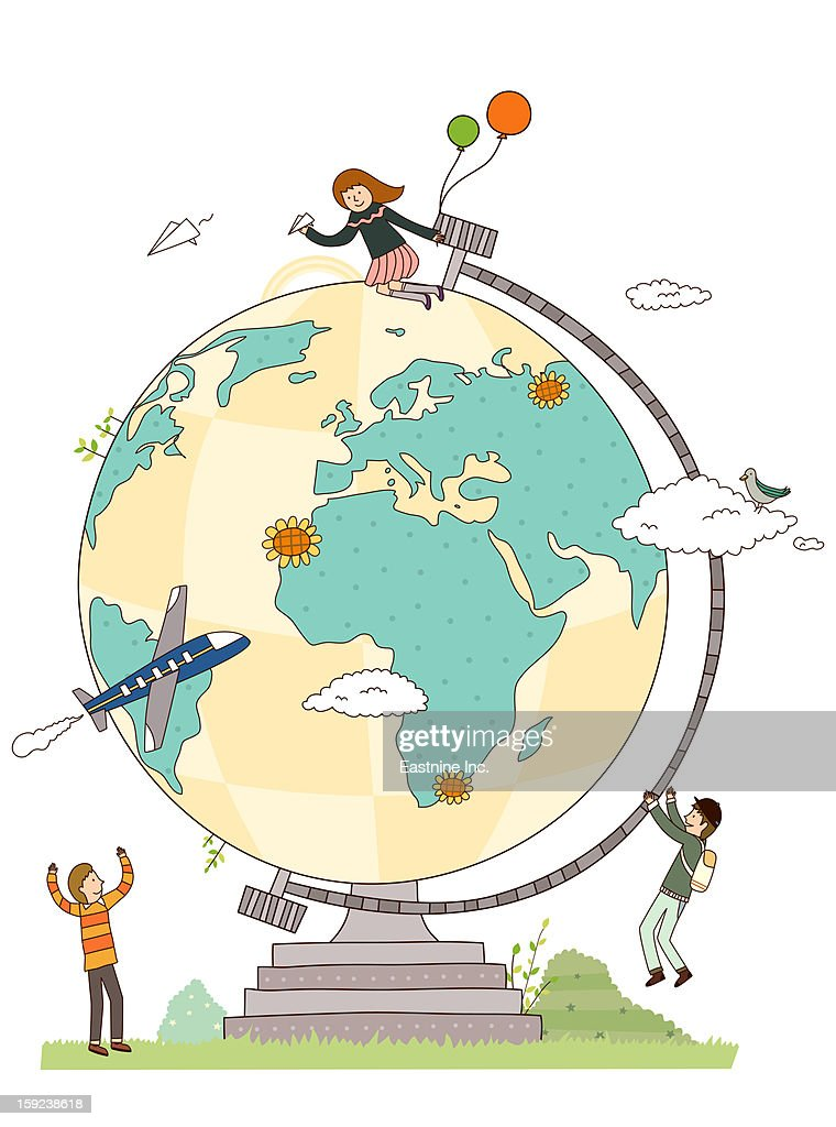 Close-up of Globe : Stock Illustration