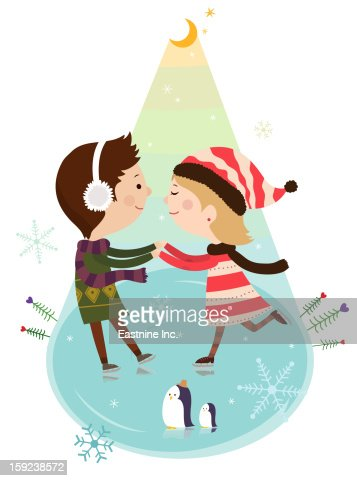 Close-up of lovers : Stock Illustration