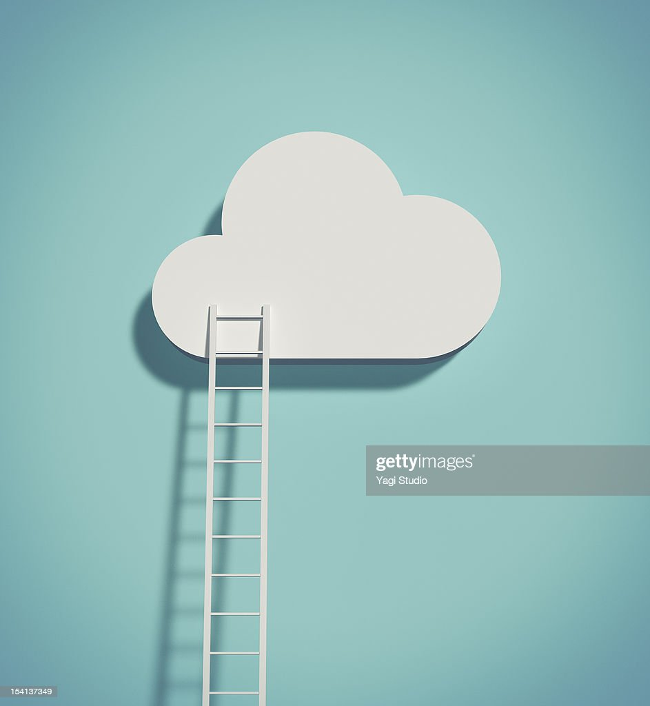 Cloud and ladder : Stock Illustration