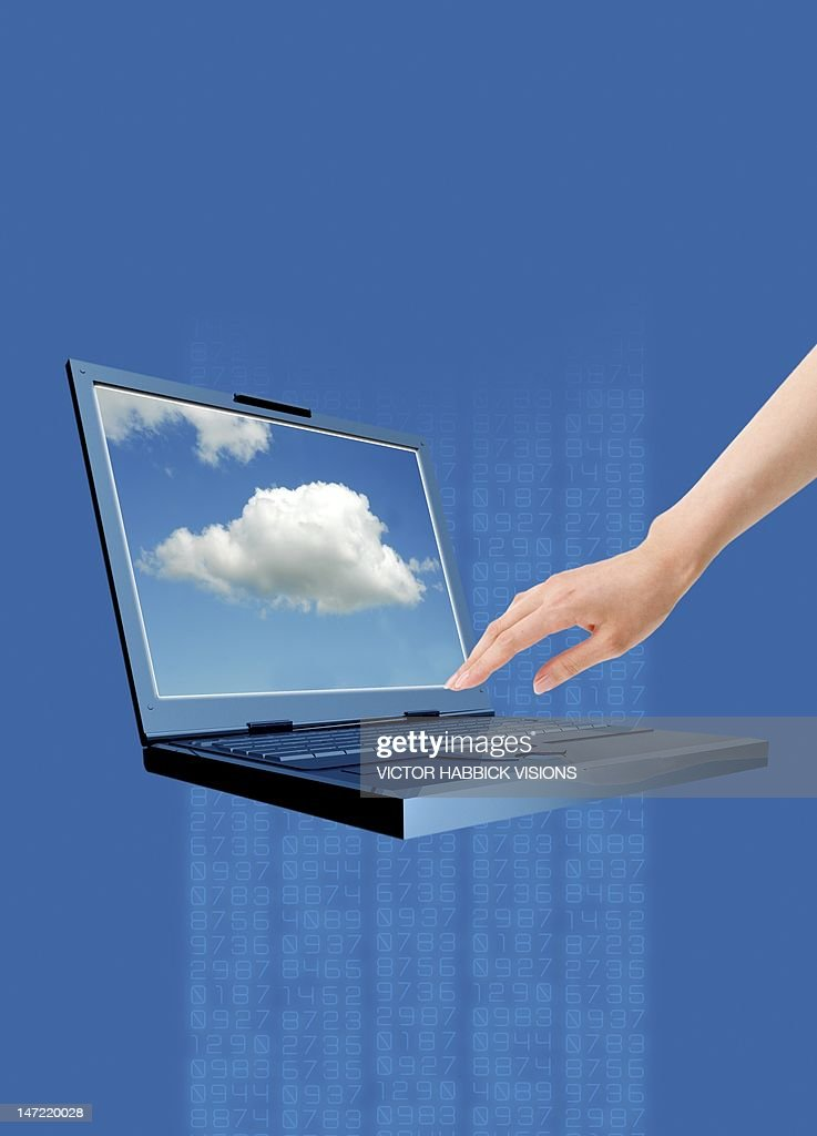 Cloud computing, conceptual artwork : Stock Illustration