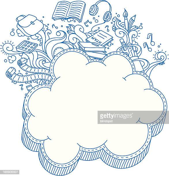 Cloud Frame Doodle