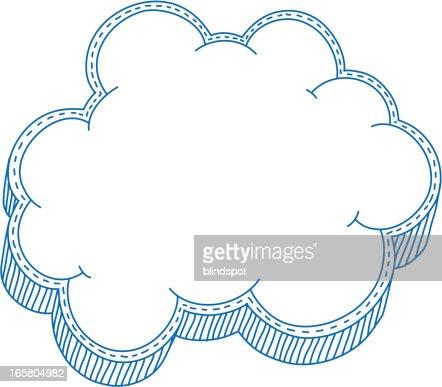 cloud frame vector art
